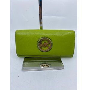 Michael Kors Women Green Yellow Wallet